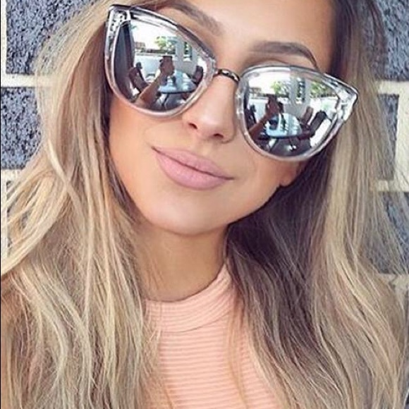 6255bf2bcbba New w  case Quay My girl clear mirror Sunglasses